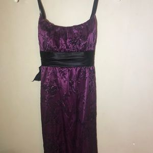 Satin Purple Dress
